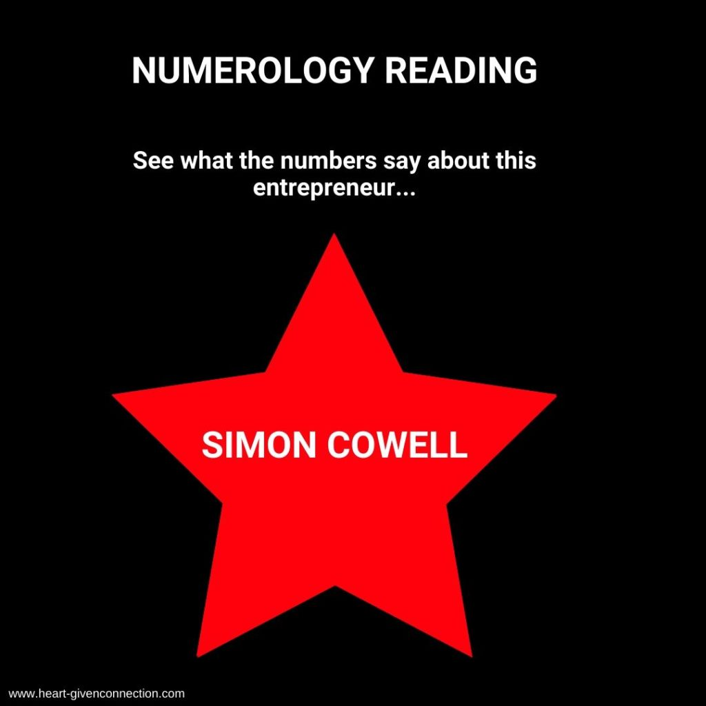 Simon Cowell Numerology Reading