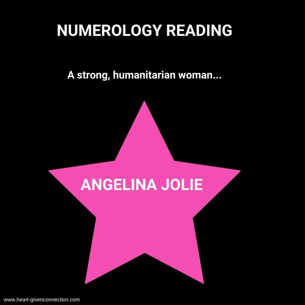 Angelina Jolie Numerology Reading