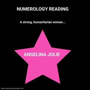 Angelina Jolie Numerology Reading