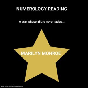 Marilyn Monroe Numerology Reading