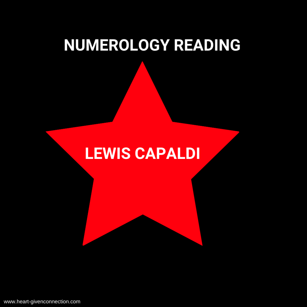 Lewis Capaldi Numerology Reading